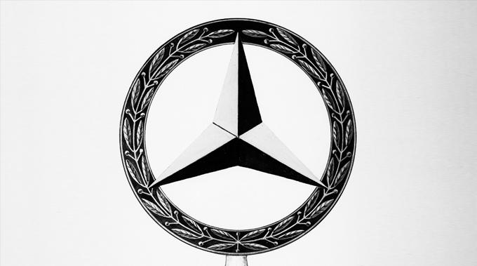 Symbol of Mercedes-Benz